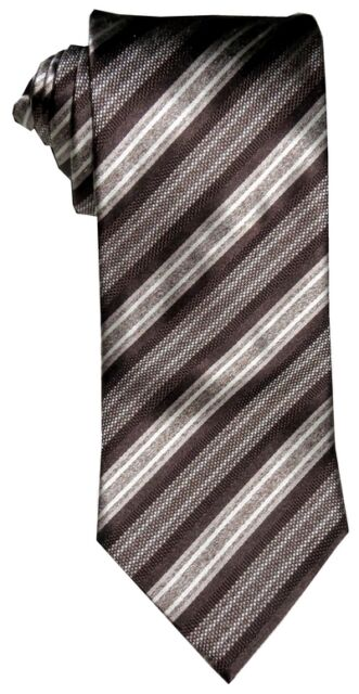 Other Men's Clothing $285 New Brioni Art Deco Black Silver Burgundy Links 100% Smooth Silk Tie