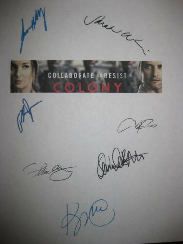 Colony Signed TV Script Josh Holloway Sarah Wayne Callies Righetti Kittles repnt