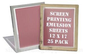 "Emulsion Sheets - 25 Pack - 12""x17"""