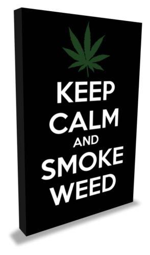 "/'Keep Calm and Smoke Weed/' LARGE Canvas Art 20/"" x 30/"""