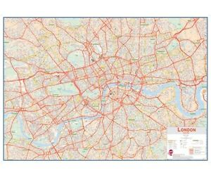 Map Central London Uk.Details About Huge Central London Street Map Free Uk Shipping