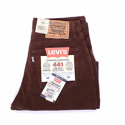 NWT Levis 441 Deadstock Brown Brushed Twill Flat Brown jeans pants UK 8/10/12/14