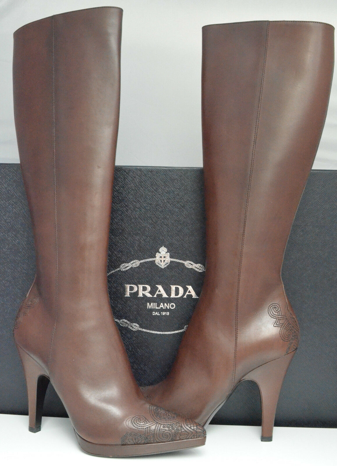 Prada Boots Brown Knee High Classic (size US 9.5)