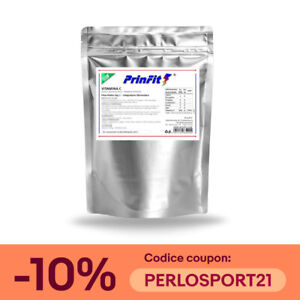 1 kg - Vitamina C Polvere Pura 100% - E300 Acido Ascorbico Integratore - PrinFit