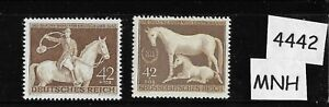 MNH stamps / 1943 & 1944 Brown Ribbon Horse race / Third Reich / Munich Germany