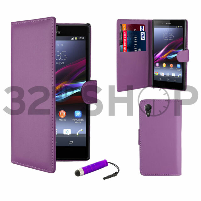 Wallet PU Leather Case Cover For Sony Xperia Z Z1 Z2 Z3 Screen Protector Stylus