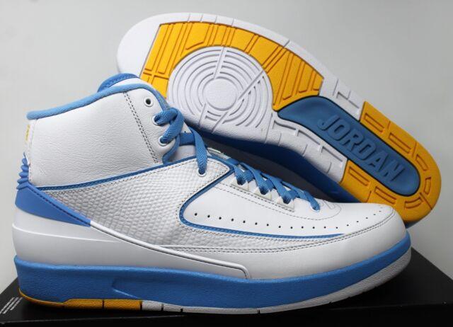 meet 2893b 33302 Nike Air Jordan Retro II 2 Melo 2018 White University Blue Size 10.5  385475-122