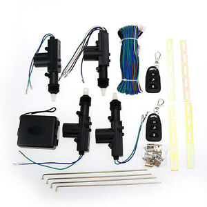 4 Door Power Central Lock Kit W 2 Keyless Entry Car Remote Control