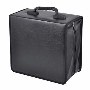 High-PU-Leather-400-Disc-CD-DVD-Storage-Holder-Carry-Case-Bag-Organizer-Box