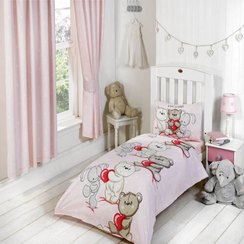 Girls and Boys Toddler Duvet Cover and Pillowcase Cotbed Junior Bedding Sets