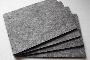 grey felt placemats simple shape rectangle felt table mats set of 16