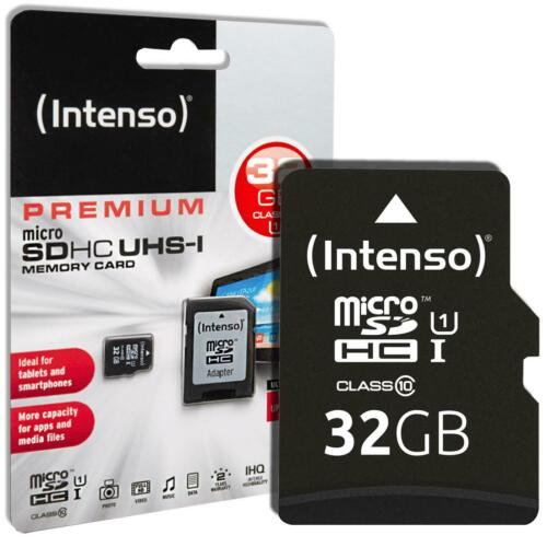 Intenso Premium 32 GB Micro SD SDHC Speicherkarte + Adapter High Speed Card