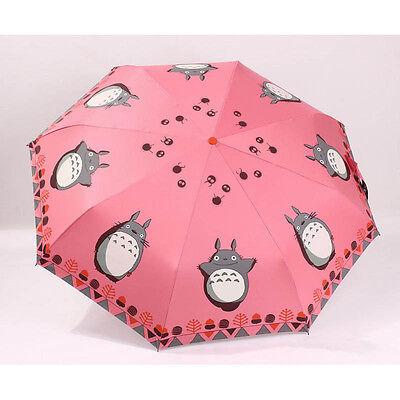 Anti-UV Windproof Portable Compact Umbrella Totoro Anime Folding Umbrella #JP