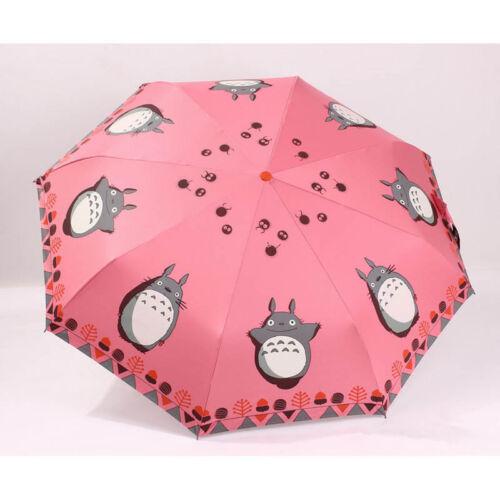 Anti UV Sun Rain Umbrella Cartoon Automatic Parasol Windproof 3 Folding  #B99