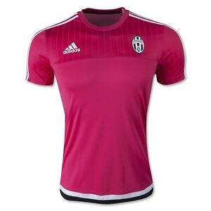 new concept 7d288 0e809 Details about adidas Juventus 2015-2016 Training Soccer Jersey Brand New  Pink / White / Black