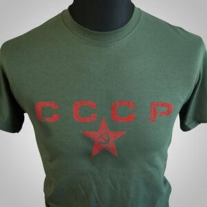 Cccp Rétro Shirt Sur Urss T D'origine Armée Soviétique Russe Détails Cool Hipsta Green Le Titre Russie Afficher dxBoCWEerQ