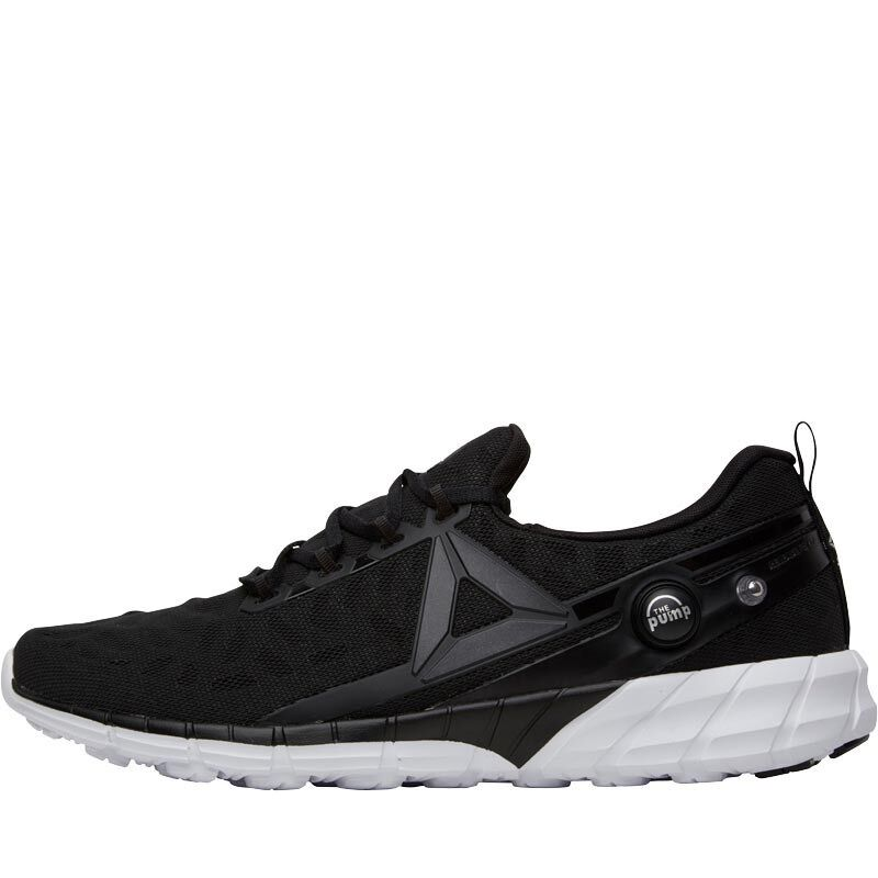 REEBOK MENS ZPUMP FUSION 2.5 NEUTRAL RUNNING SHOES - BLACK WHITE – SIZE 7.5
