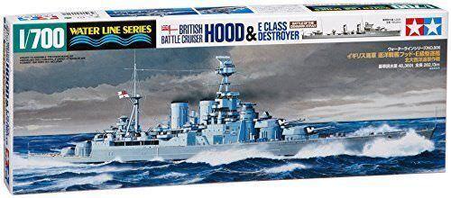 HMS Hood & E Klass Destroyer - 1  700 Ship modellllerler Kit - Tamiya 31806