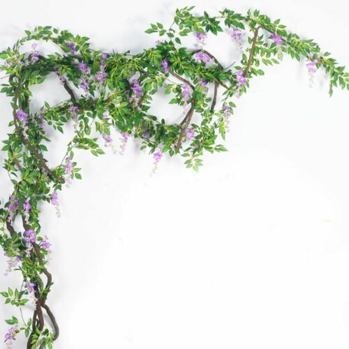 Wisteria Flowers Long Artificial Silk Wall Backdrop Decors Wedding Arch Fake Ivy