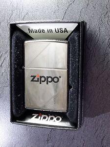 Zippo-034-Corners-034-Cromo-Lucido-NUOVO-E-CONFEZIONE-ORIGINALE-304
