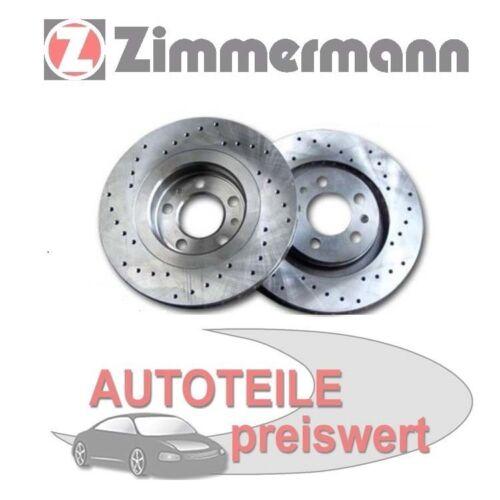 2 zimmermann Disques de Frein de Sport avant BMW 5er E60 535 540 6er E63 635 650