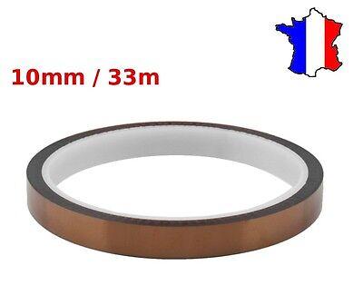 10 mm x 33 m résistant à la chaleur Ruban Polyimide Ruban Adhésif Pour Impression Par Sublimation