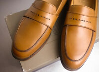 Brooks Brothers Peal Co Brown Calf Loafers Shoes Msrp $598 10d