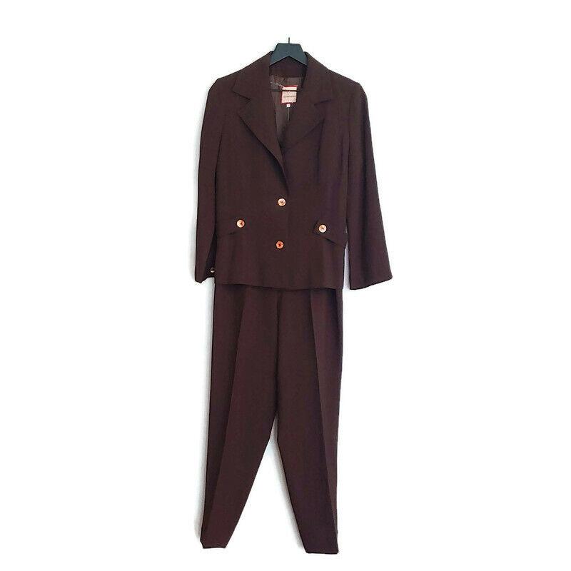 Vintage Dossier Womens Two Piece Pant Suit - image 1