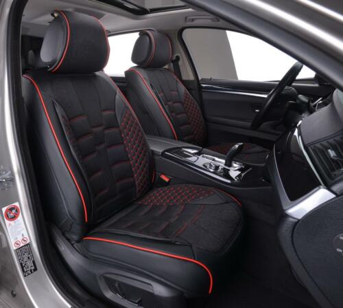 Black PU Leather /& Fabric Full Set Seat Covers Padded For Toyota Corolla Avensis