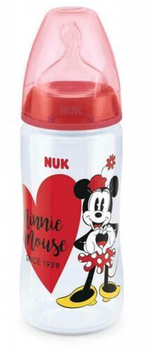 Nuk First Choice Disney Minnie Mouse Bébé Bouteille 300 ml anti colique 6-18 mois