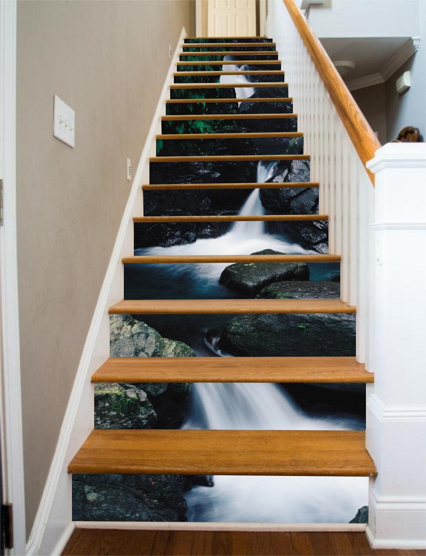 3D Stein Strom 566 Stair Risers Dekoration Fototapete Vinyl Aufkleber Tapete DE