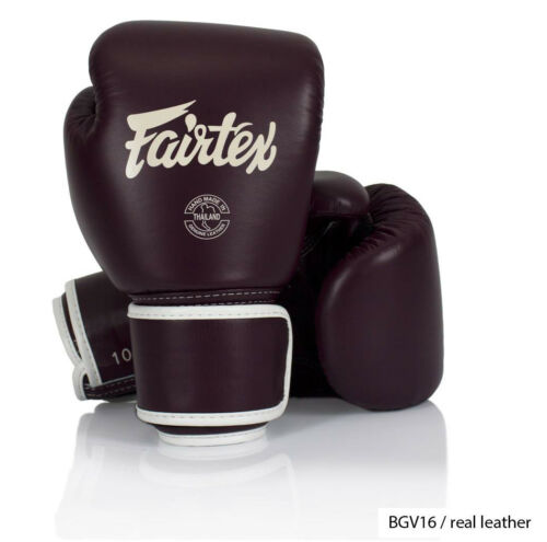 GENUINE Fairtex Boxing Gloves Real Leather New Color BGV16 In Stock NowReadyShip
