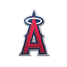 MLB Los Angeles Angels Car Truck Auto 3-D Aluminum Color Emblem Sticker Decal