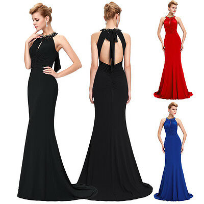 Formal Long Prom Dress Masquerade Ball Gowns Mermaid Wedding Evening Dresses RED