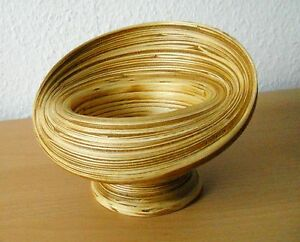 Schale Aus Bambus Originelle Verarbeitung Dekoration H 14 Cm Ebay