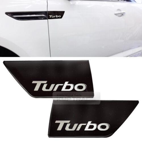 K5 Turbo Logo Fender Molding Side Point Black Pear for KIA 2011-2015 Optima