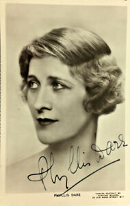 PHYLLIS-DARE-ACTRESS-SIGNED-REAL-PHOTO-POSTCARD-RPPC