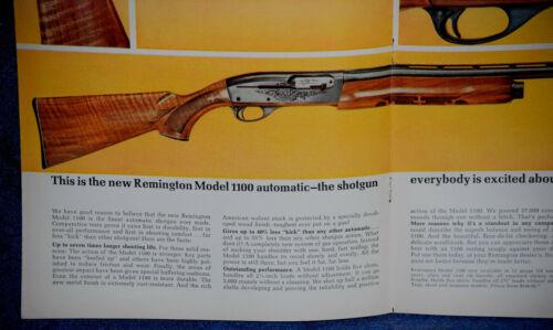 "ORIGINAL Advertising /""REMINGTON Model 1100 Automatic SHOTGUN/"" 2-p Magazine 1963"