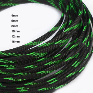 Color 20mm Expandable Braided Sleeving Cable Wire Sheathing 3 Weave High Density