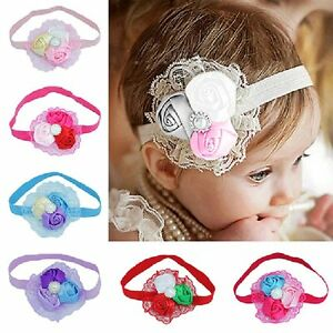 Baby Mädchen Bowknot Stirnband Blumen Blüten Haarband Haarbänder Haarschmuck