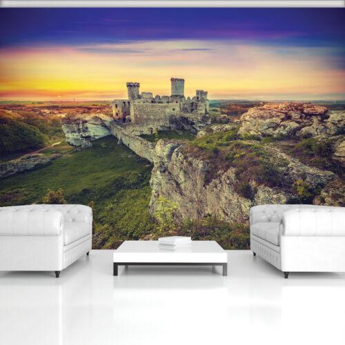VLIES Fototapete-SCHLOSS- -Burg Schottland Gebirge Reisen Steine Sonne XXL 10615