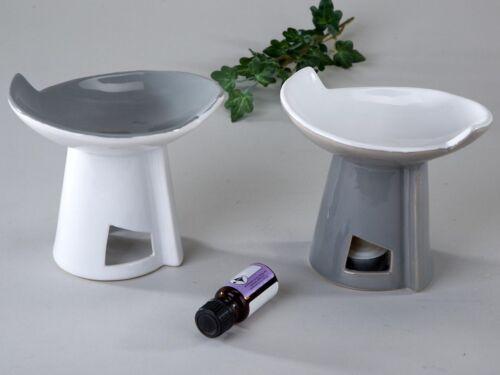 Formano Düftöllampe Duftlampe Keramik grau weiß 737946 Teelichtleuchter für Duft