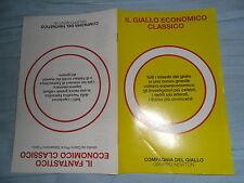 CATALOGO Newton & Compton Compagnia Del Giallo + Fantastico Economico Classico