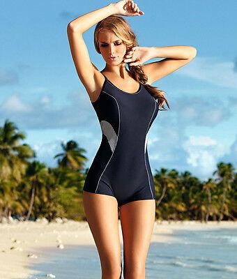 Eleganter/&Sportlicher Badeanzug mit Bein Self in Größen 34-42 Mod.22 DSZ