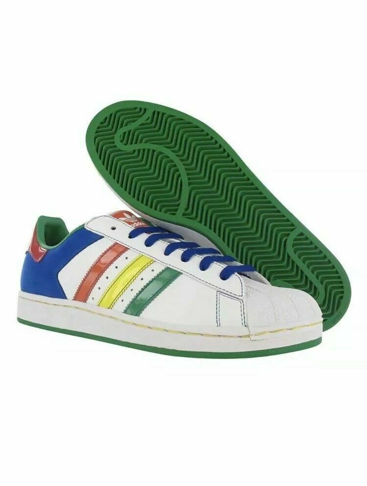 ADIDAS SUPERSTAR ORIGINAL ORIGINAL ORIGINAL LEATHER LOW SNEAKERS MEN SHOES MIX 045888 ZS 11.5 NEW eaad6c