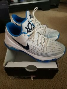 low priced b58cc f0801 Details about Nike KD 8 Kevin Durant GS Size 7 Youth Y7 Blue & White  Basketball Shoes 7Y