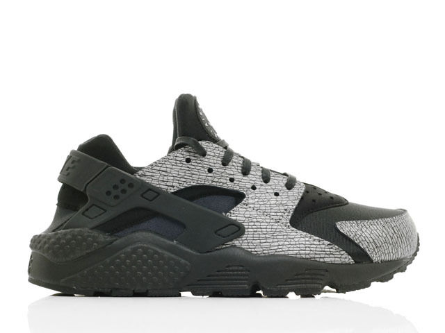 WMNS Nike Air Huarache Run PRM Running Shoes Black/Silver 683818 003 Sz 6