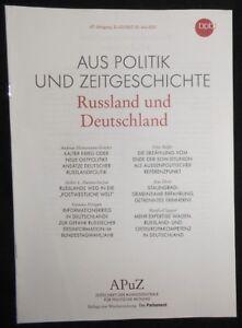 APUZ - Russland und Deutschland. 22. Mai 2017 - NRW , Deutschland - APUZ - Russland und Deutschland. 22. Mai 2017 - NRW , Deutschland