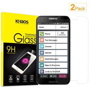 2-Pack Khaos For Alcatel Jitterbug Smart 2 Tempered Glass