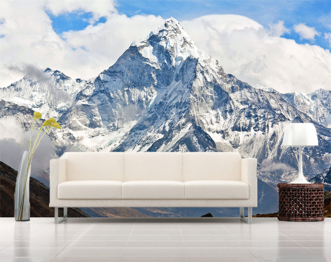 3D silver fiel über die Berge 58 Fototapeten Wandbild Bild Tapete Familie Kinder